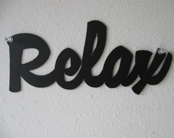 Relax Metal Sign Wall Hanging Decoration