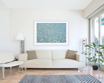 Crystal Blue, Ocean Photography, Large Scale Beach Photography, Ocean Decor, Ocean Landscape, Wall Art, Seascape, Coastal Art, Surf Decor