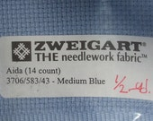 ZWEIGART 1/2 Yard of 14 Count Needlepoint Aida Cloth