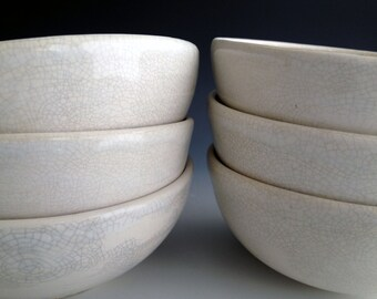 Ready to ship, Handmade  soup/cereal bowls, stoneware bowl set,custom dinnerware by Leslie Freeman
