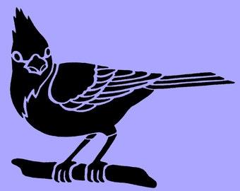 Blue Jay Bird STENCIL 10x8 Inch