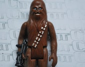 Vintage Star Wars 1977 Chewbacca Chewy the Wookie 100% Complete w original bowcaster C90