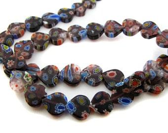 Purple Heart Millefiori Beads - CG90