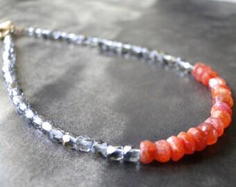 Friendship Bracelet, Holiday Jewelry, Bracelet Friendship Bracelet, Sunstone Gemstone Bracelet, Accessories, Gift for Her