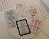 5 Cupcake & CAKE SHOP MENUS  Bakery Cafe Dollhouse Miniature 1:12 Scale