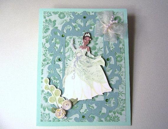 princess tiana birthday handmade cardprettypaperpusher