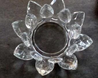 Cut Crystal Teardrop Prism Bowl Tray