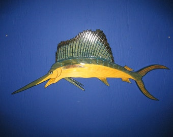 Sailfish, Sport Fish, Sailfish Wall Plaque, Wall Hanging, Home Decor