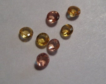 Songea Sapphires .......     2.8  to 3 mm     ......      7 pieces .....                a234