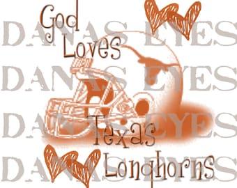 University of Texas Longhorns craft supply digital printable download graphic design