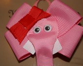 Valentine Elephant Ribbon Sculpture Klippie