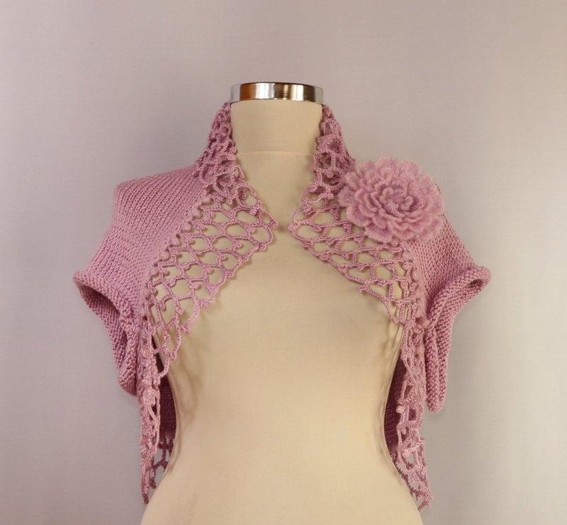 Bolero Jacket Pattern Shrug Pink Bolero Jacket
