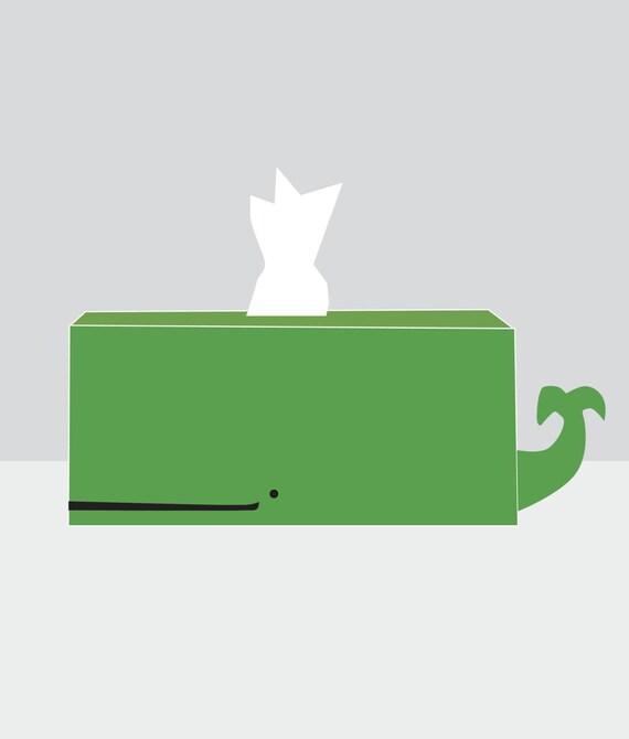 Custom Whale Tissue Holder - Leap Frog Green - Ships Feb. 27th