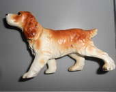 Spaniel Dog Vintage Porcelain Figurine - Vintage Mid Century Numbered Collectible