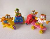 Vintage Garfield Figures Cars - McDonald's Happy Meal Toy Set with U3