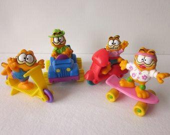 Vintage Garfield Figures Cars - McDonald's Happy Meal Toy Set