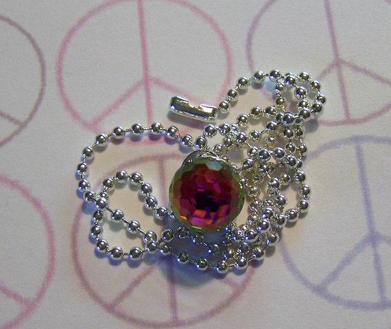 Swarovski Fireball Crystal Bullet Jewelry Pendant Necklace