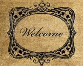INSTANT DOWNLOAD - Welcome in a Frame - Download and Print - Image Transfer - Digital Sheet by Room29 - Sheet no. 875