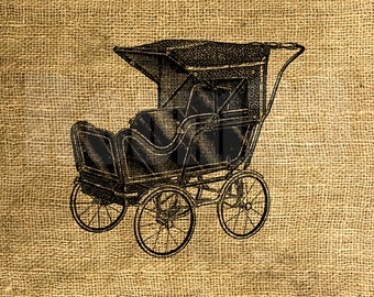 INSTANT DOWNLOAD - Baby Carriage - Download and Print - Image Transfer - Digital Sheet by Room29 - Sheet no. 915