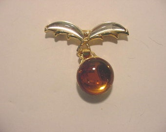 Vintage Made In France Dangle Brooch   12 - 532