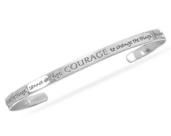 Sterling Serenity Prayer Cuff