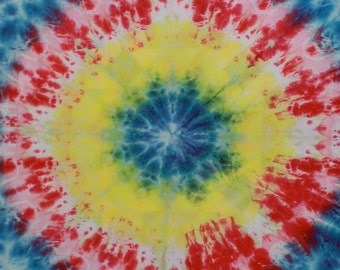 136 - Snow dyed cotton fabric mandala