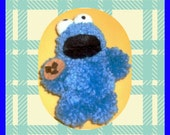 Mini Cookie Monster with Cookie