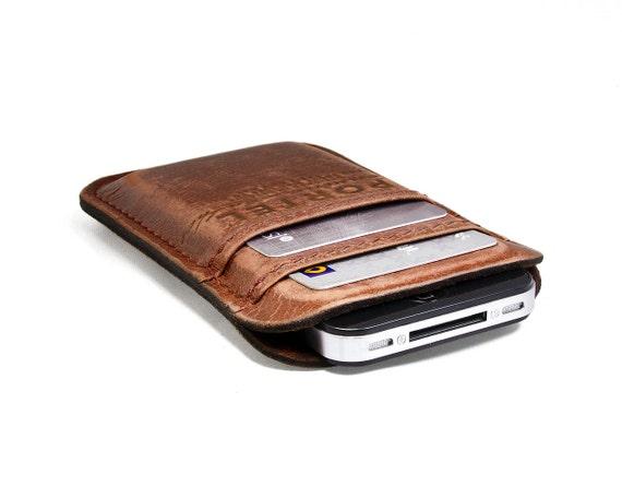 iPhone 4 RETROMODERN aged leather pocket