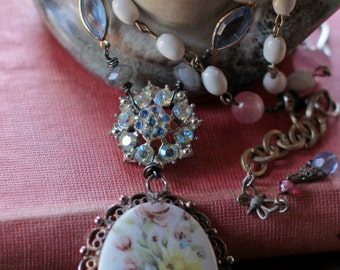 Wildflowers- assemblage necklace
