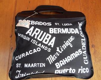80s SHALAMEX--Island Life--Printed Canvas Souvenir Bag--Unused with Tag