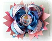 Disney Cinderella  Stacked Hair bow-Pink Blue bow -Perfect for Disney Made by Maddie B's Boutique on Etsy