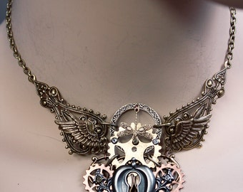 Steampunk   keyhole choker   Gothic necklace