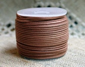 Cotton Cord Light Brown Waxed 0.5mm 25-meter  Many Colors