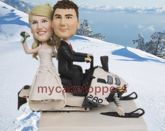wedding cake toppers sledge wdding cake topper custom made from your photos hand made look like you