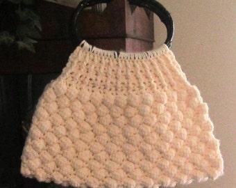 Crochet PDF Pattern for Honeycomb Stitch Handbag