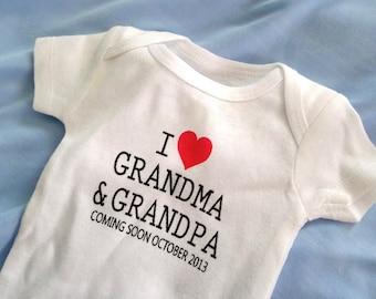 pregnancy announcement, Birth Announcement Onesie, personalized baby onesie, baby onesie, birth announcement, pregnancy announcement shirt