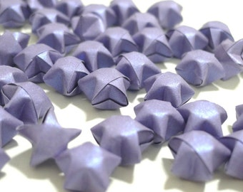 100 Pure Shimmer - Romantic Purple Lilac Origami Lucky Stars
