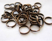 Double Jump Rings, Split Rings, Red Copper, 8mm, 100 Pieces, Nickel Free, Other Colors Available