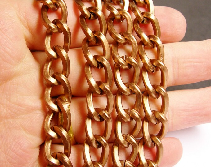 Copper chain - lead free nickel free won't tarnish - 1 meter-3.3 feet - aluminum chain - Dark copper