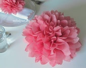 6 centerpieces, 9'' tissue paper flowers, good for Table Decoration and Aisle Decor