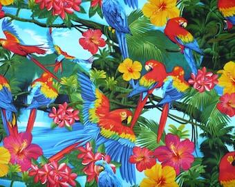 1 yard Macaw  Bird 2 Craft Fabric