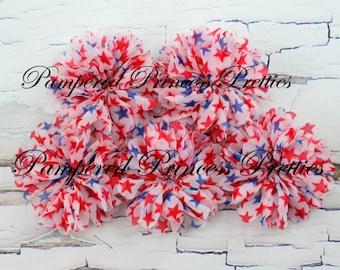 Set of 5-Patriotic Stars-Blossom Flower