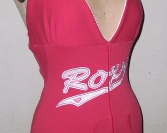 Red Roxy Hoodie Halter Tank Top