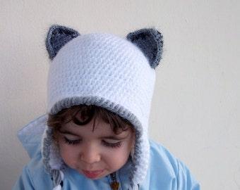 Baby arctic fox hat -Arctic fox hat-Arctic FOX-