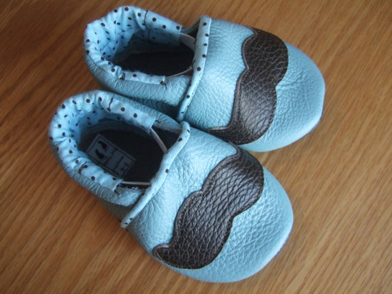 baby boy mustache shoes 3 6 month size by mudturtlesandmore