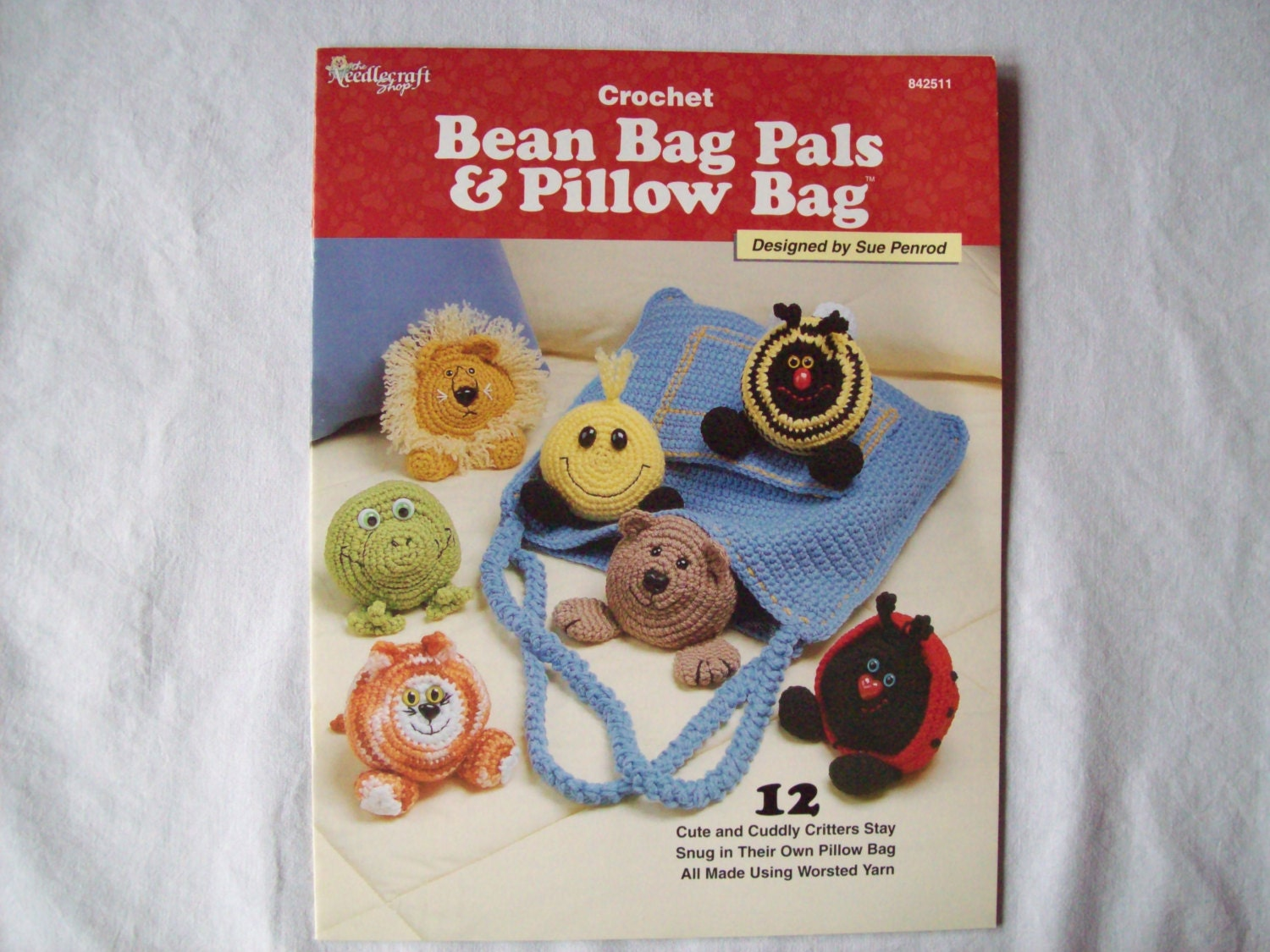 Crochet Beach Bag Pattern : 12 Crochet Pattern Stuffed Animal Toy Bean Bag Pals & Pillow