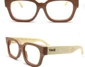MJX1304 handmade bamboo eyeglasses glasses eyewear with wood box Free shipping