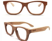 handmade bamboo natural brown eyeglasses glasses frames MJX1055