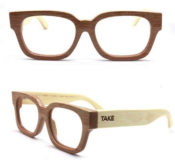 Handmade Glasses Frames : MJX1304 handmade bamboo eyeglasses glasses eyewear by TAKEMOTO