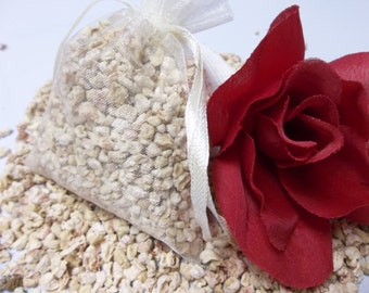 Amber Rose Sachet Filler, Aroma Bead Sachets, Scented Corn Cob Fibers, Bowl and Vase Filler, Home Fragrance, Free Shipping